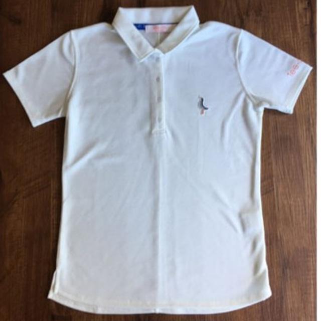 【 LADIES 】サンゴクロスポロシャツ【AXIS】<WHITE><Sサイズ>