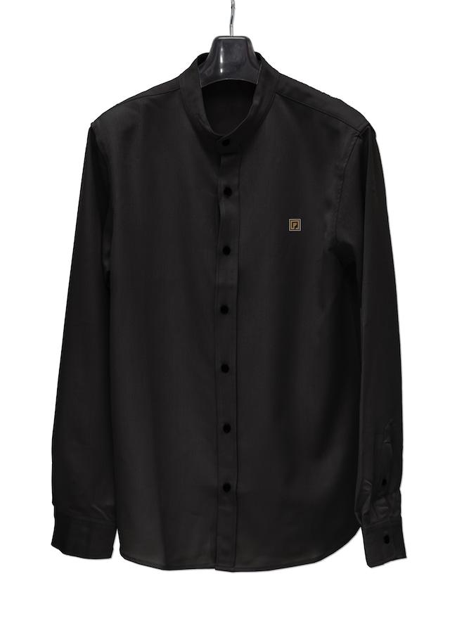 P-emblem Band Collar Shirts ブラック