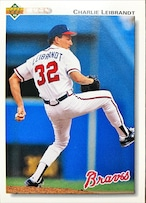 MLBカード 92UPPERDECK Charlie Leibrandt #170 BRAVES