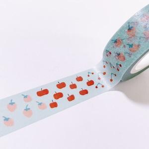 フルーツマスキングテープ ストロベリー&アップル&チェリー 15mm