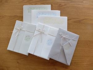 【活版印刷】Letter set  [ flower ]