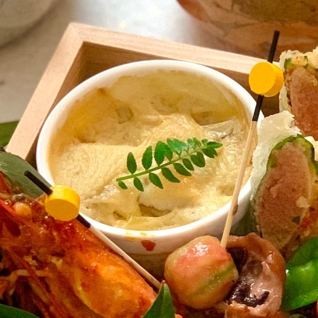 里芋と帆立の豆乳グラタン