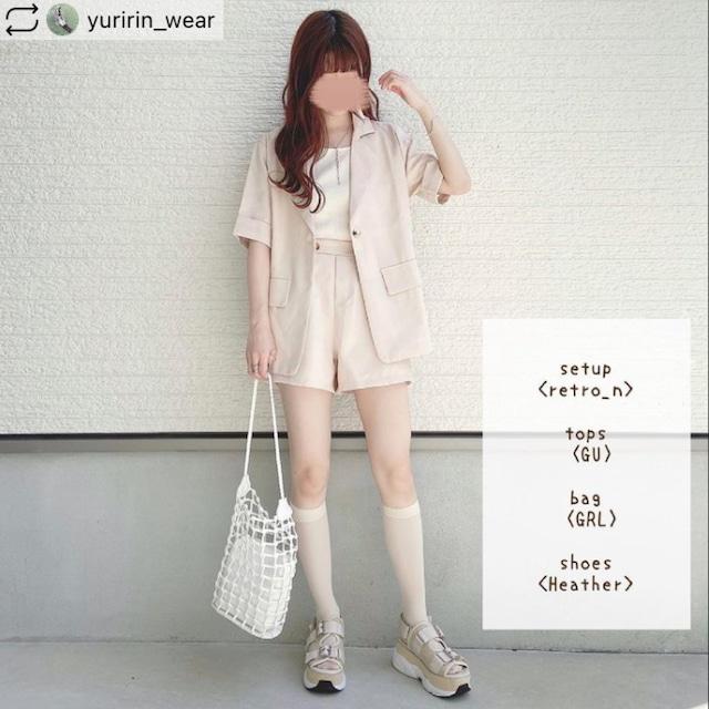 【yuririn*様着用】大人カジュアルセットアップ♡ジャケット+ショートパンツ B0480