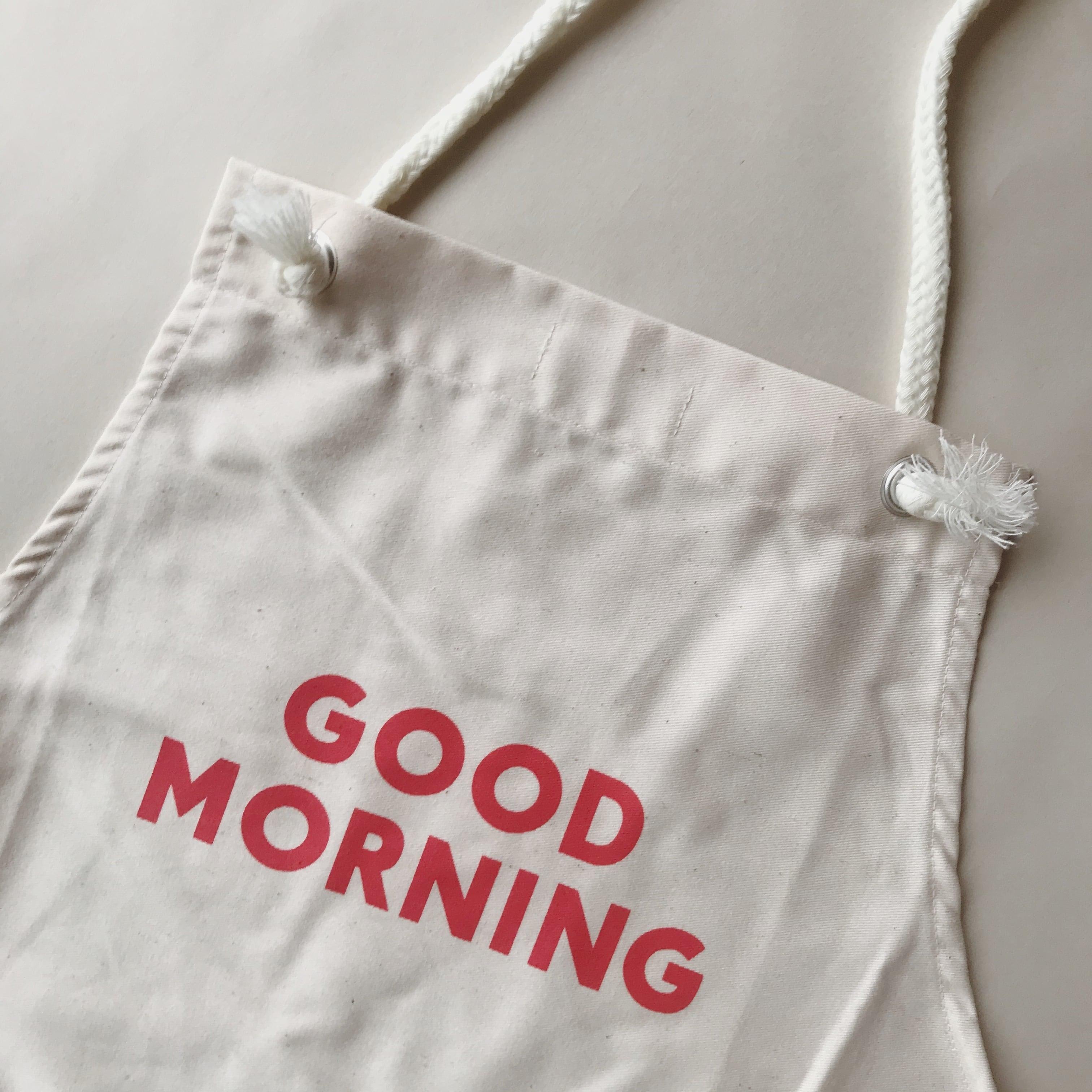 GOOD MORNING Apron Adult