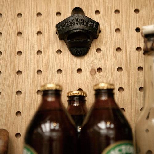 DIY 壁付けボトルオープナー