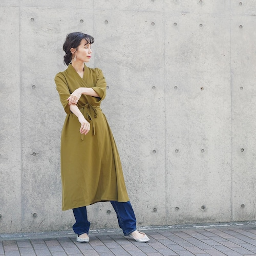 cache-coeur gown  one-piece(pistàcchio green)