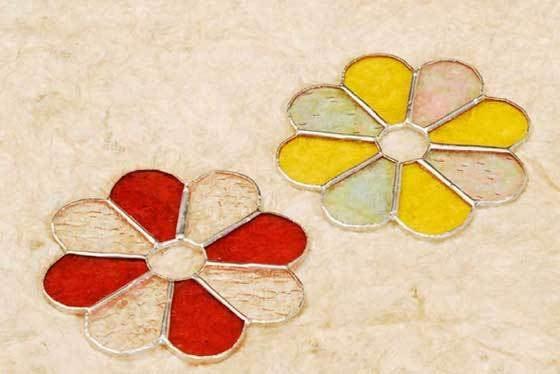 コースター花(ガラスのコースター) 02050001