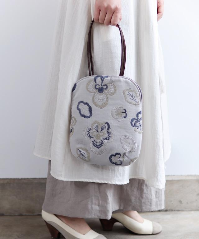 ビオラ刺繍のminiバッグ (bag009)