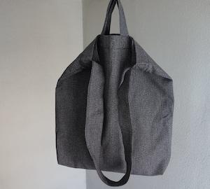 farmers tote bag / grey saltandpepper stripe