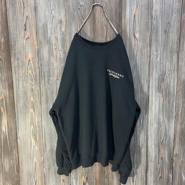 [used]TRINCHERO embroidery black sweat