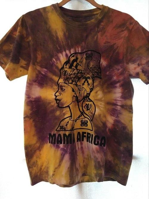 ガーナの手染めTシャツ【S】 MAMA AFRICA-④
