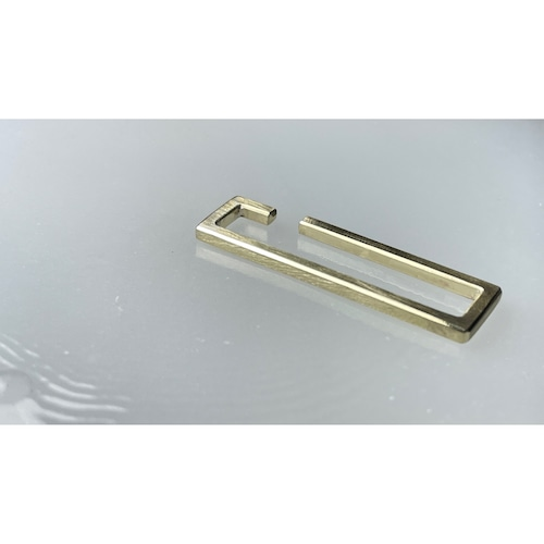 Brass Rectangle Earcuff