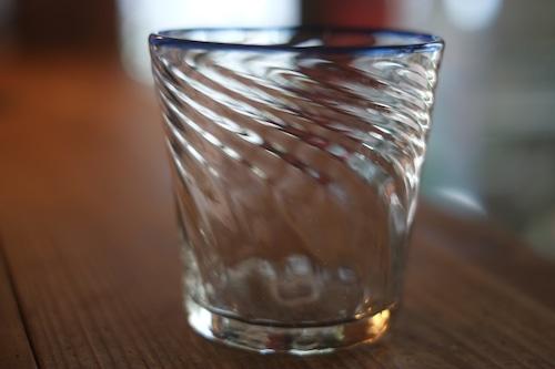 【カンナカガラス工房◆村松学】◆◆モールタンブラー<口巻青>◆◆