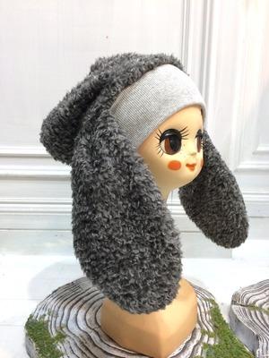 NIGATSU うさみみ帽  Gray mix