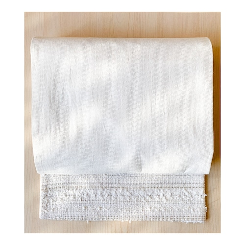 eco帯-白の八寸名古屋帯-