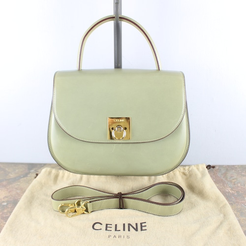 .OLD CELINE LOGO LEATHER 2WAY SHOULDER BAG MADE IN ITALY/オールドセリーヌロゴレザー2wayショルダーバッグ2000000050089
