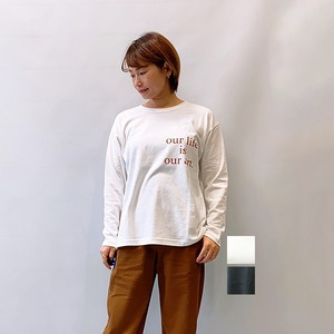 OUTERSUNSET(アウターサンセット) LIFE IS ART カポックt-shirts 2021秋冬新作 [送料無料]