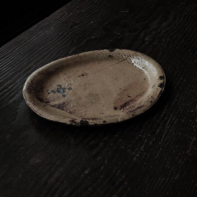黄オーバル皿 hirasawa harumi