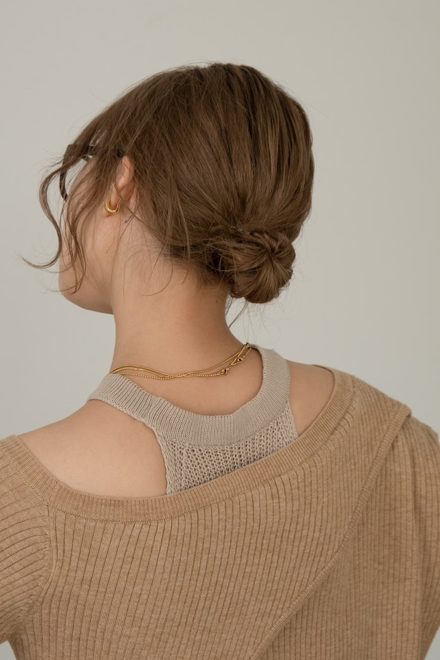 summer knit no sleeve