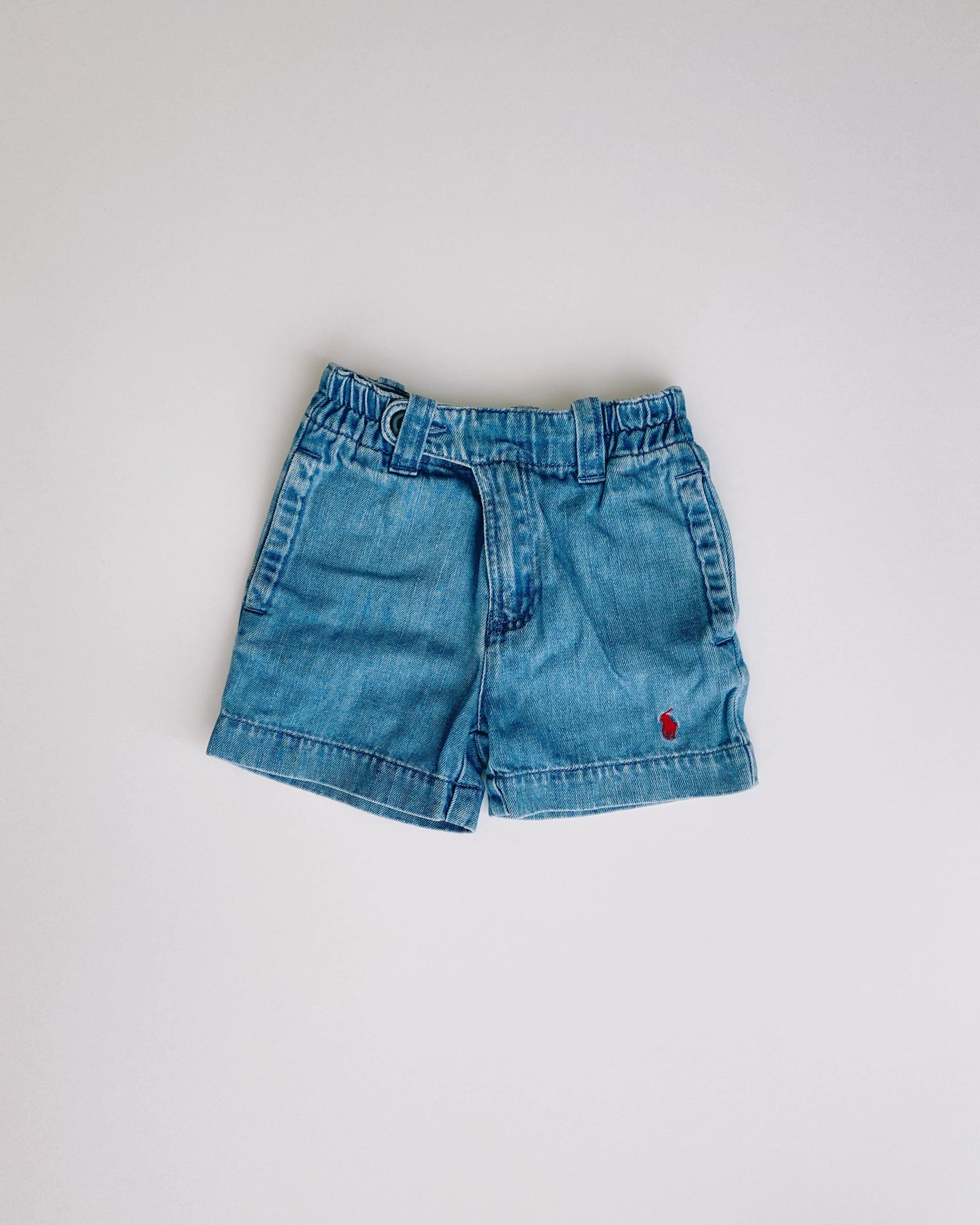 (KD044)80cm polo Ralph Lauren denim shorts