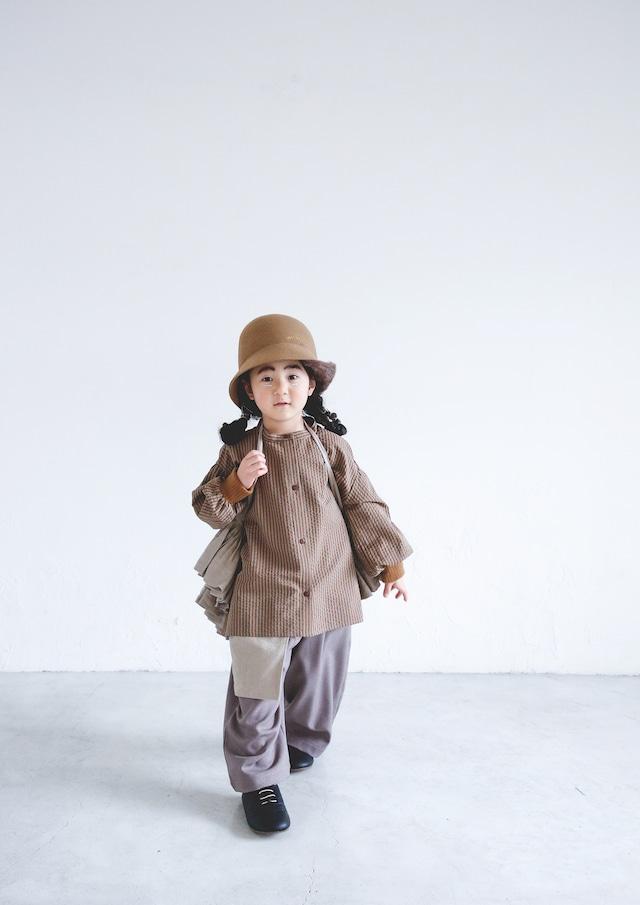 【21AW】ミチリコ(michirico) Stripe Shirts beige【L・XL】シャツ