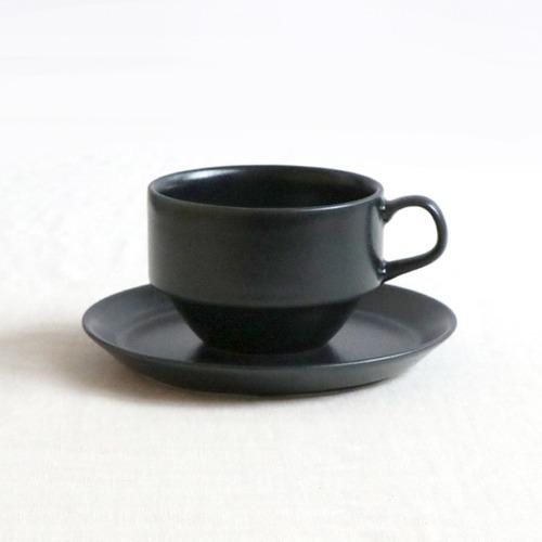磁器 ブルー・ブラックのカップ&ソーサー【SLSET-0053_MP】