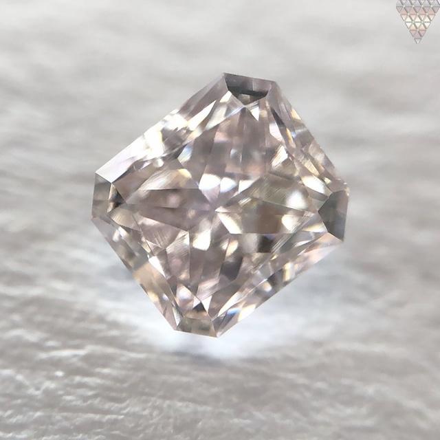 0.35 ct FANCY LIGHT BROWN-PURPLE SI1 RADIANT GIA 天然  ダイヤモンド ルース