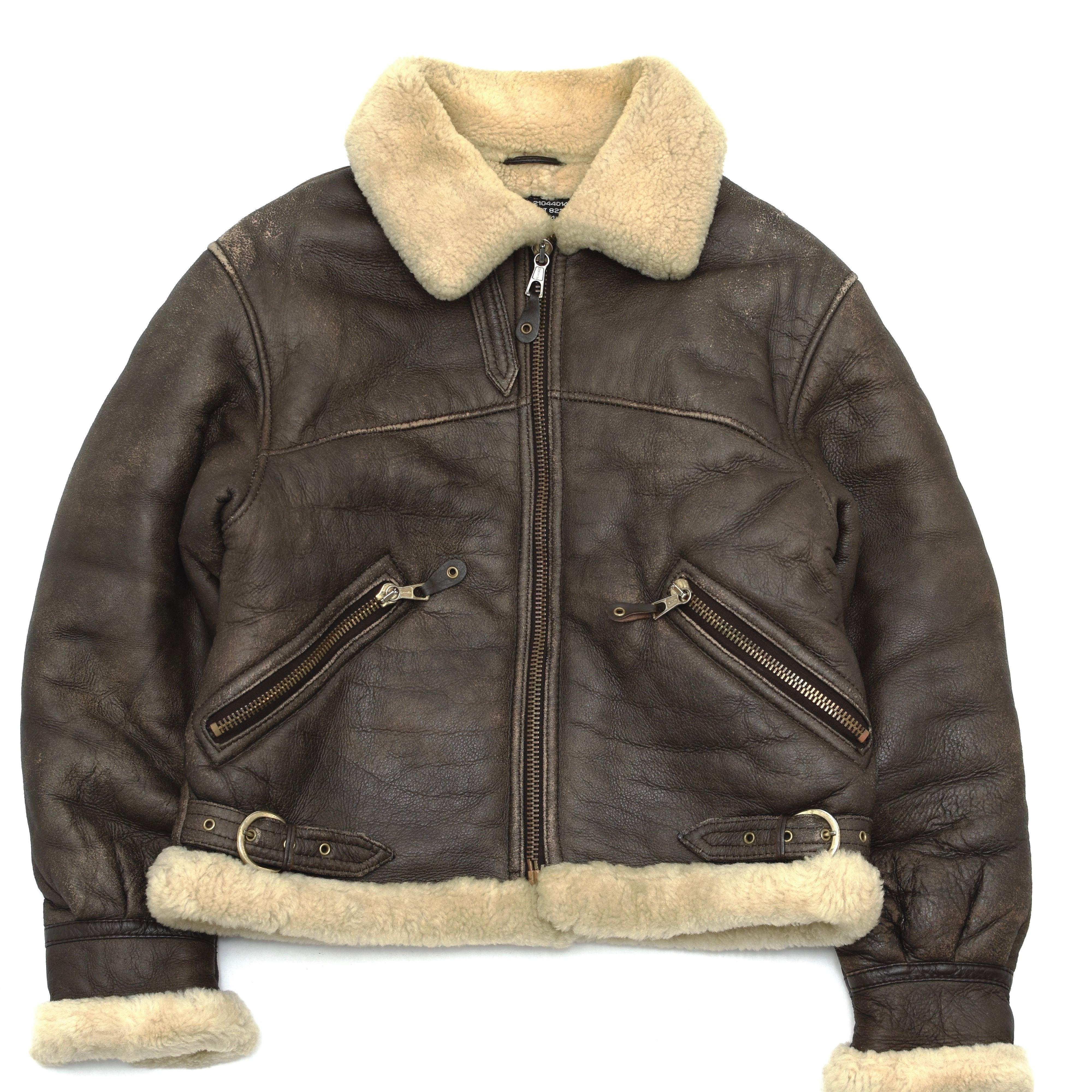 Vintage Mouton Leather Boa Jacket TYPE B-9