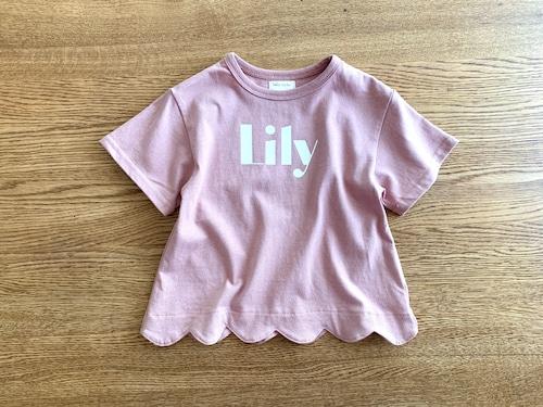 スカラップTシャツ・ピンク 90cm