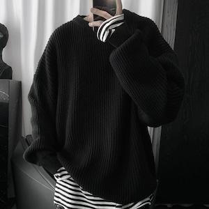 【メンズファッション】快適 ファッション ゆったり シンプル 無地 ニット メンズトップス M-2XL セーター53362949