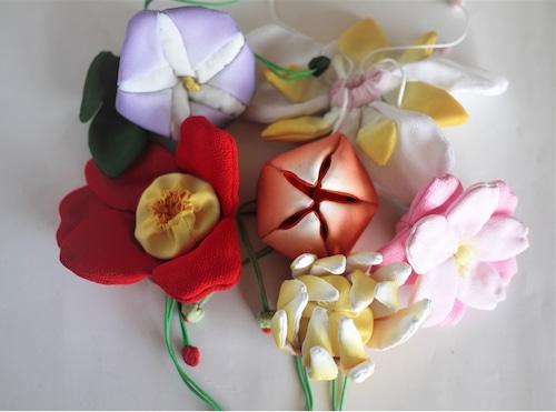 縮緬 花の匂い袋 香袋 和の細工物
