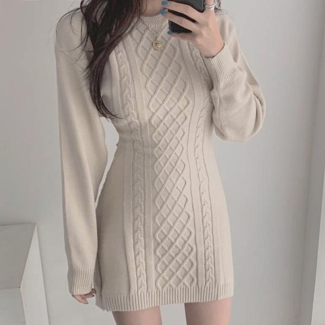 ❤︎ knit cut dress 2color