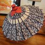 花巻傘 手作りミニ傘 (台付)  赤・青2色