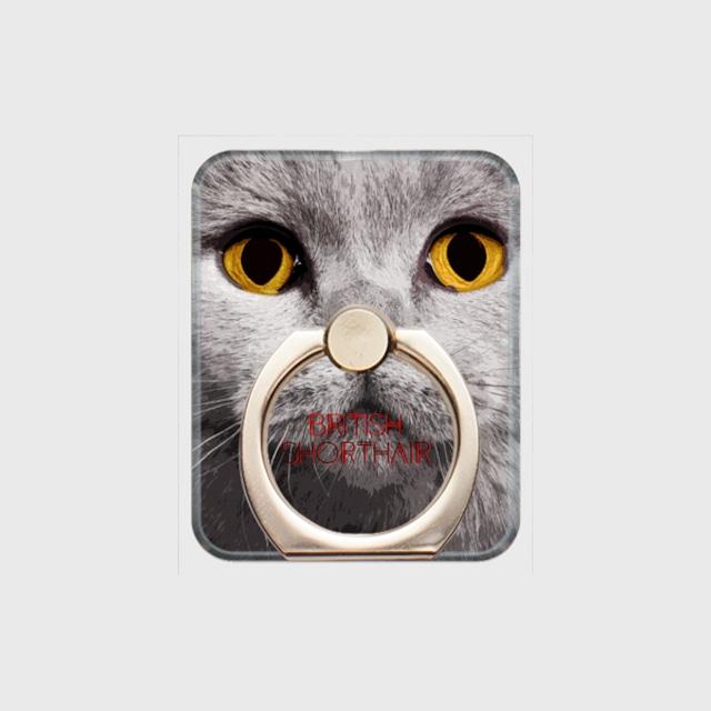 ブリティッシュショートヘア おしゃれな猫スマホリング【IMPACT -color- 】