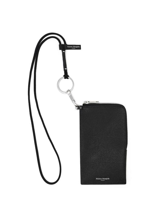 MAISON MARGIELA GRAINY EMBOSSED LEATHER;PHONE HOLDER Black S55UI0300