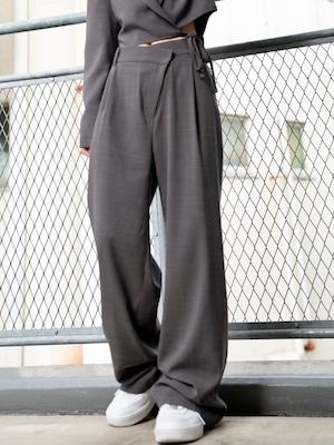 【WOMENS - 2 size】OFFSET TAILOR PANTS / 2colors