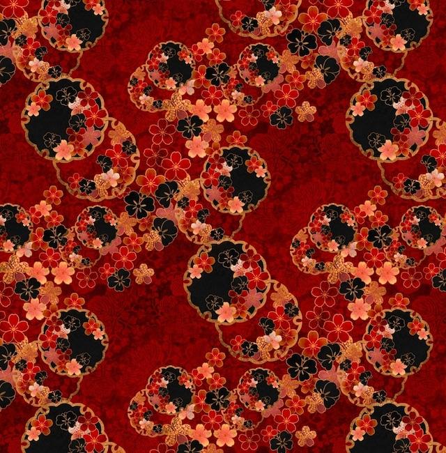 桜家紋蝶家紋雪割 紅 メンズ&レディース キャンバスブーツ