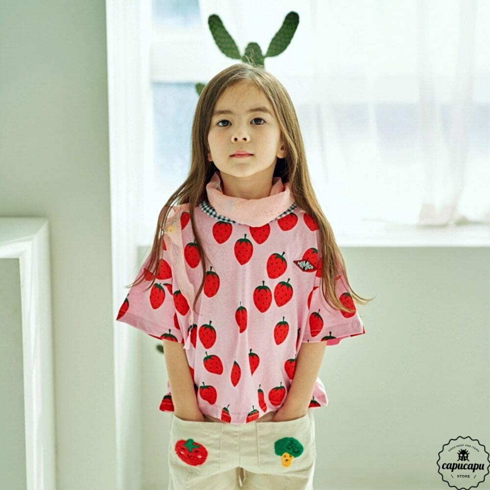 «即納» strawberry T shirts イチゴTシャツ
