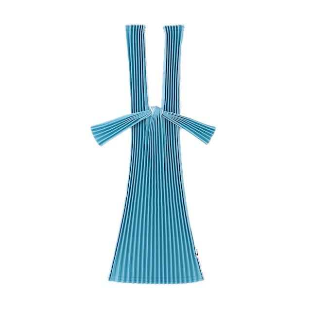 kna plus PLECO プリーツバッグ S エコバッグ 藍色 BLUE GRAY