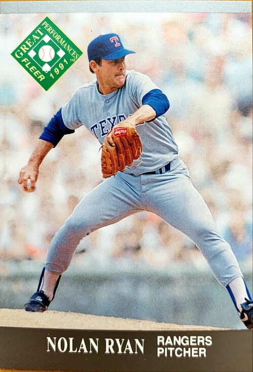 MLBカード 91FLEER Nolan Ryan #395 RANGERS
