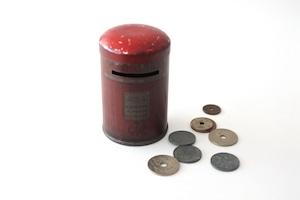 vintage post box serving tin /  ヴィンテージ ポスト型 貯金箱