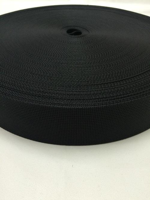 ナイロンテープ 12本トジ織 50mm幅 黒 1m単位
