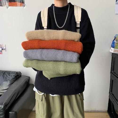ハイネックリブセーター #BL6733