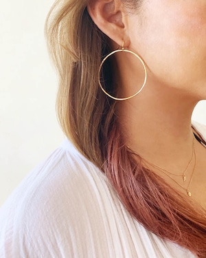14k gf hoop pierced earrings  /  on the beach     OBH-007