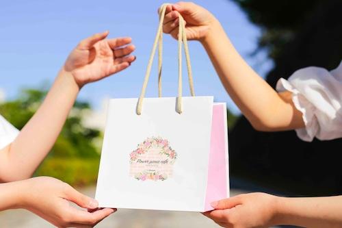 【ショッピングバック1枚】ボックスケーキ専用ロゴ入りオリジナルバック