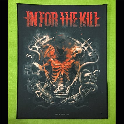 """IN FOR THE KILL """"In For The Kill"""" プリント・バックパッチ"""