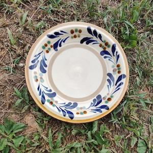 7寸リム皿(コーヒーカップソーサーの形と同じです)一枚焼き/鉄絵巻唐草
