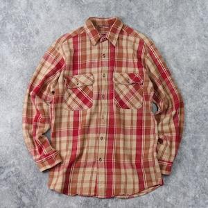 90年代 ヘビーフランネルシャツ L~XL 古着 B146