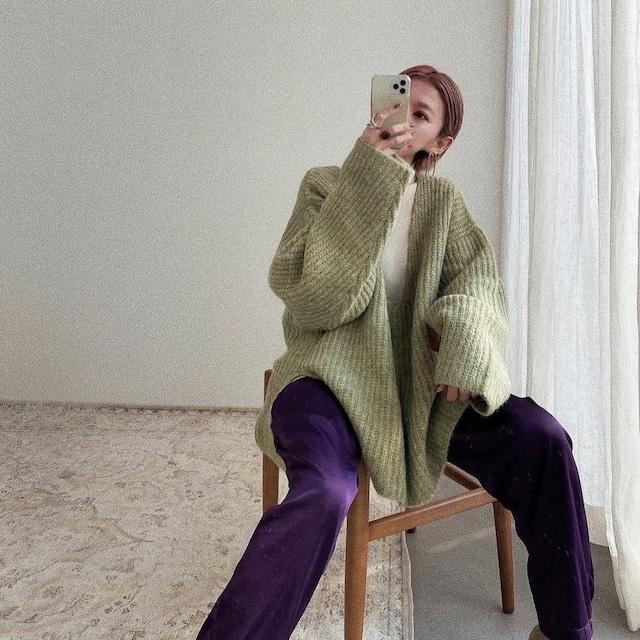 Vneck over knit/lime