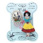 刺繍ミニブローチ白雪姫と鏡